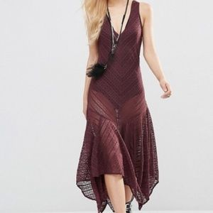 Free People Intimately Lila Slip Dress h0502